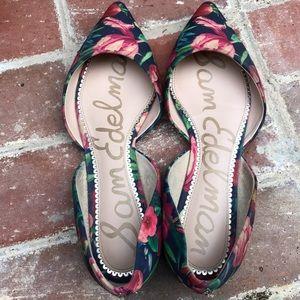 Sam Edelman floral printed Rodney D' Orsay shoes